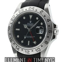 Rolex Explorer II Stainless Steel 40mm Black Dial On Rubber B