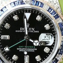 Rolex Gmt Master Ii Stainless Steel 5 Cts. Diamonds And...