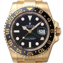 Rolex GMT Master II Yellow Gold Black dial