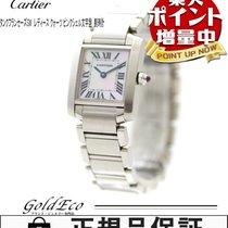 Cartier 【カルティエ】 タンクフランセーズSM レディース クォーツW51028Q3 SSシルバー ピンクシェル文字...