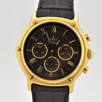 Ebel 1911 Chronograph 18k Yellow Gold Automatic Zenith El...