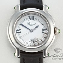 Chopard Happy Sport Medium Stahl Diamanten Brillanten 27/8238
