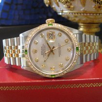 Rolex Oyster Perpetual Datejust Diamonds Mother-of-pearl Dial...