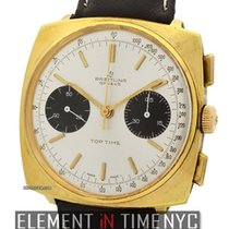 Breitling Vintage Top Time Yellow Gold Plated Panda Dial...
