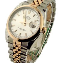 Rolex Used 116201_used Mens 2-Tone Rose Gold Datejust - Smooth...