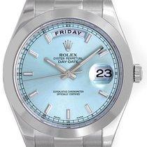 Rolex Day-Date II President Men's Platinum Watch Glacier...