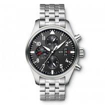 IWC Pilots Watch Chronograph Automatic Chrono Day Date Mens...