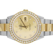 Rolex Mens Rolex 18K/ Steel Datejust Two Tone Oyster 36MM...