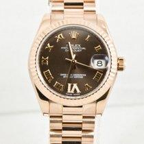 Rolex Datejust Midsize President 18K Solid Rose Gold Diamonds