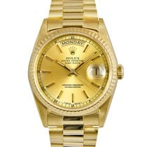 Rolex 18k Day-Date Champagne Dial Ref: 18238 (With Papers)