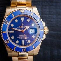Rolex Submariner Date 18k Gold Blue