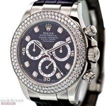 Rolex Daytona Ref-116589 18K White Gold Diamond Bezel Box...