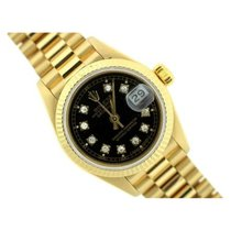 Rolex Presidential Datejust Ladies' 26mm Black Dial 18k...