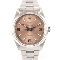 Rolex Airking rose dial 14000 with papers.