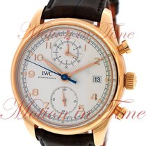 IWC Portuguese Chronograph Classic, Silver Dial - Rose Gold on...