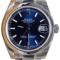 Rolex Datejust 36 116200-BLUSDO Blue Index Stainless Steel...