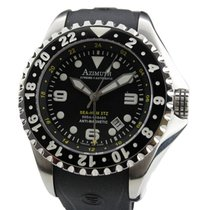 Azimuth Xtreme-1 Sea-hum 3tz Watch 3 Time Zone 500m/1640ft Wr...