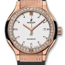 Hublot Classic Fusion 33mm King Gold Opalin Diamonds Automatic...