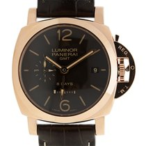 Panerai New  Luminor 18k Rose Gold Brown Manual Wind PAM00576