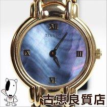 티쏘 (Tissot) 【MT530】【中古】TISSOT ティソ K18 金無垢 ブルーシェル文字盤 レディス...
