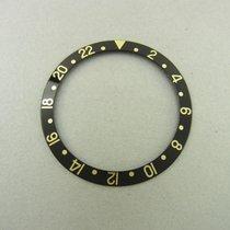 Rolex Gmt Gold Einlage Für Lünette Schwarz Ref 16753 16758...