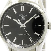 TAG Heuer Polished Tag Heuer Carrera Calibre 5 Steel Automatic...