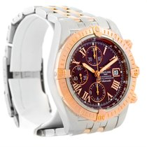 Breitling Chronomat Evolution Steel Rose Gold Watch C13356