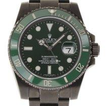 Rolex Submariner 116610 Ceramic Green PVD Steel 2016 Box/Paper...