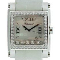 Chopard 288448-2001white Happy Sport II XL in Steel - on White...