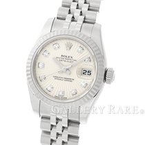 Rolex Datejust Silver Sun Beam Dial White Gold Steel 26MM...