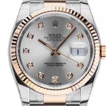 Rolex Datejust Stahl Gelbgold Diamond Automatik Armband Oyster...