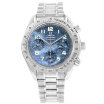 Omega Speedmaster Reduced Blue Mother Of Pearl Dial Watch...