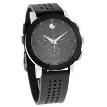 Movado Museum Mens Black Dial Swiss Quartz Chronograph Watch...
