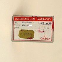 Omega Seamaster Certificate Zertifikat Warranty