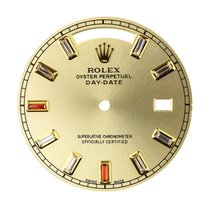 Rolex Day-Date 41mm Gold Baguette Cut Diamond Custom Dial