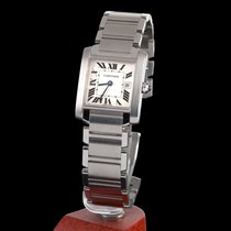 Cartier tank francaise steel quartz medium size