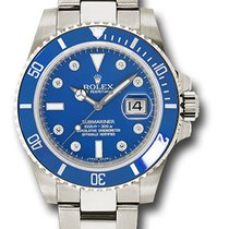 Rolex 116619 Submariner 18K White Gold & Ceramic Men's...