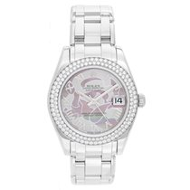 Rolex Ladies Midsize Masterpiece/Pearlmaster Diamond Watch 81339