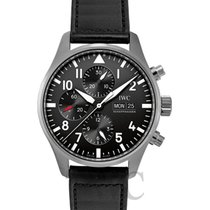 IWC Pilot's Watch Chronograph Black/Leather 2016 - IW377709