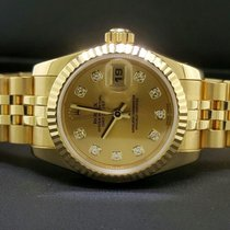 Rolex Ladys Datejust 26mm Jubilee 18k Yellow Gold Diamond Dial...