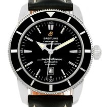 Breitling Superocean Heritage 42 Black Dial Watch A17320 Box...