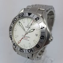Omega Seamaster Rare White Dial GMT Mens 41mm Watch