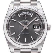 Rolex Day-Date 40 18 kt Weißgold 228239 Rhodium