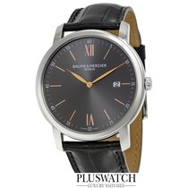 Baume & Mercier Classima Leather Dark Grey Dial 42mm