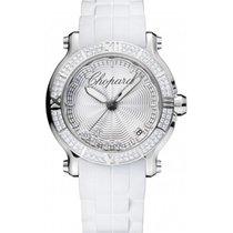 Chopard Happy Sport 36mm Steel Diamonds NEW