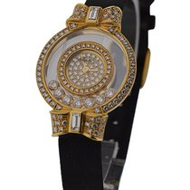 Chopard 20/5020 Happy Diamonds - Yellow Gold on Strap with...