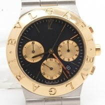 Bulgari Diagono Ch35sg Chronograph Steel & 18k Gold Quartz...