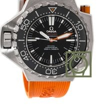 Omega Seamaster PloProf 1200m orange rubber black dial rotating