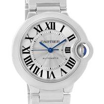 Cartier Ballon Bleu Steel Midzize Silver Dial Watch W6920046...