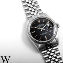 Rolex Steel 36mm DATEJUST Black Index 1980's Quickset...